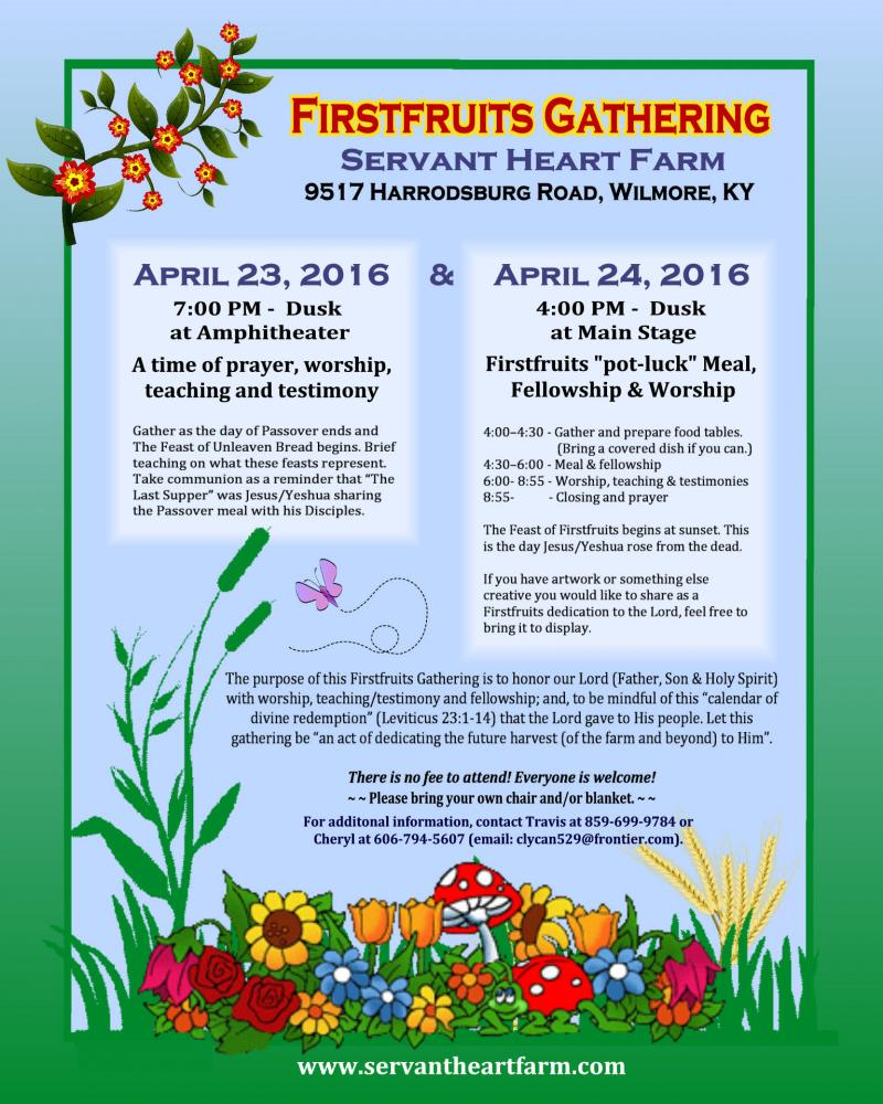 Firstfruits Gathering Flyer