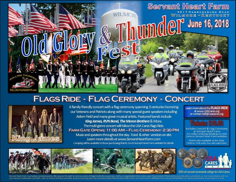 Old Glory & Thunder Fest Flyer - June 2018