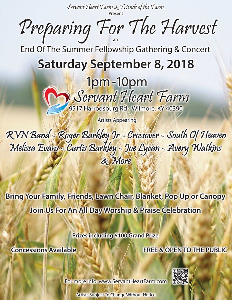 Flyer - Preparing fo the Harvest - 9-8-18